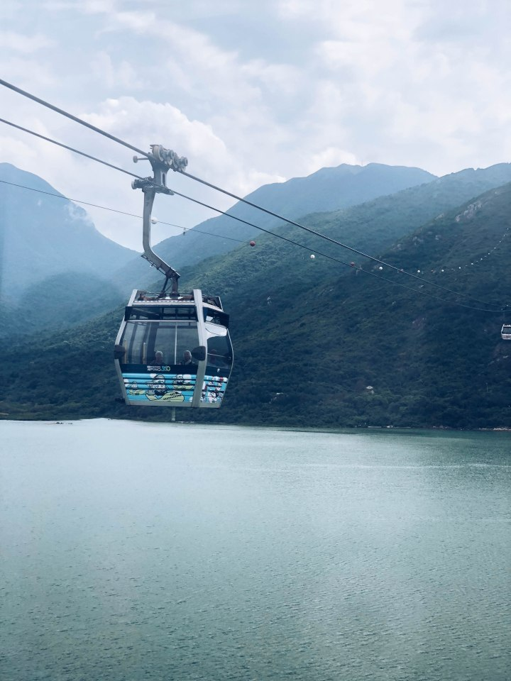 hong kong amy rose living cable car big buddha