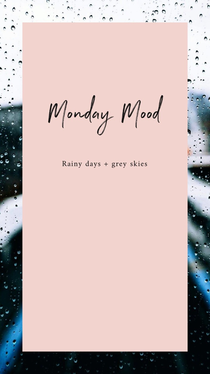 amy rose living monday mood pink rain